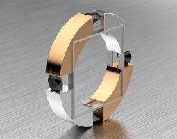 Combined Male Diamond Ring 3D print model