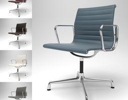 3D Vitra Aluminium Chair EA 103 Blender Cycles