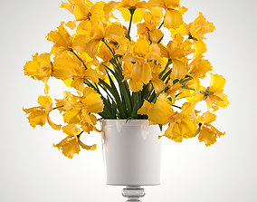 bouquet of yellow flowers 3D