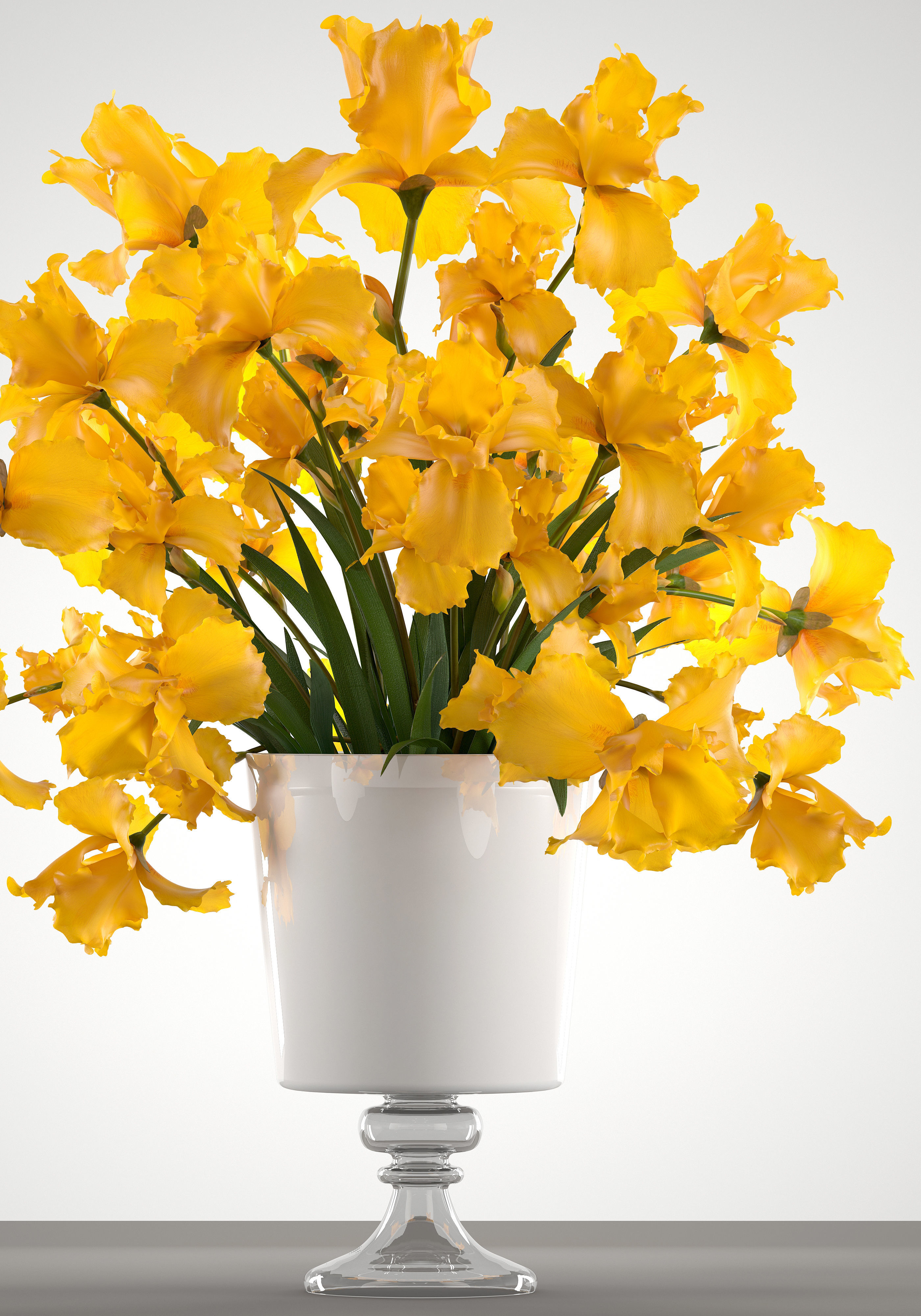 bouquet of yellow flowers 3D | CGTrader