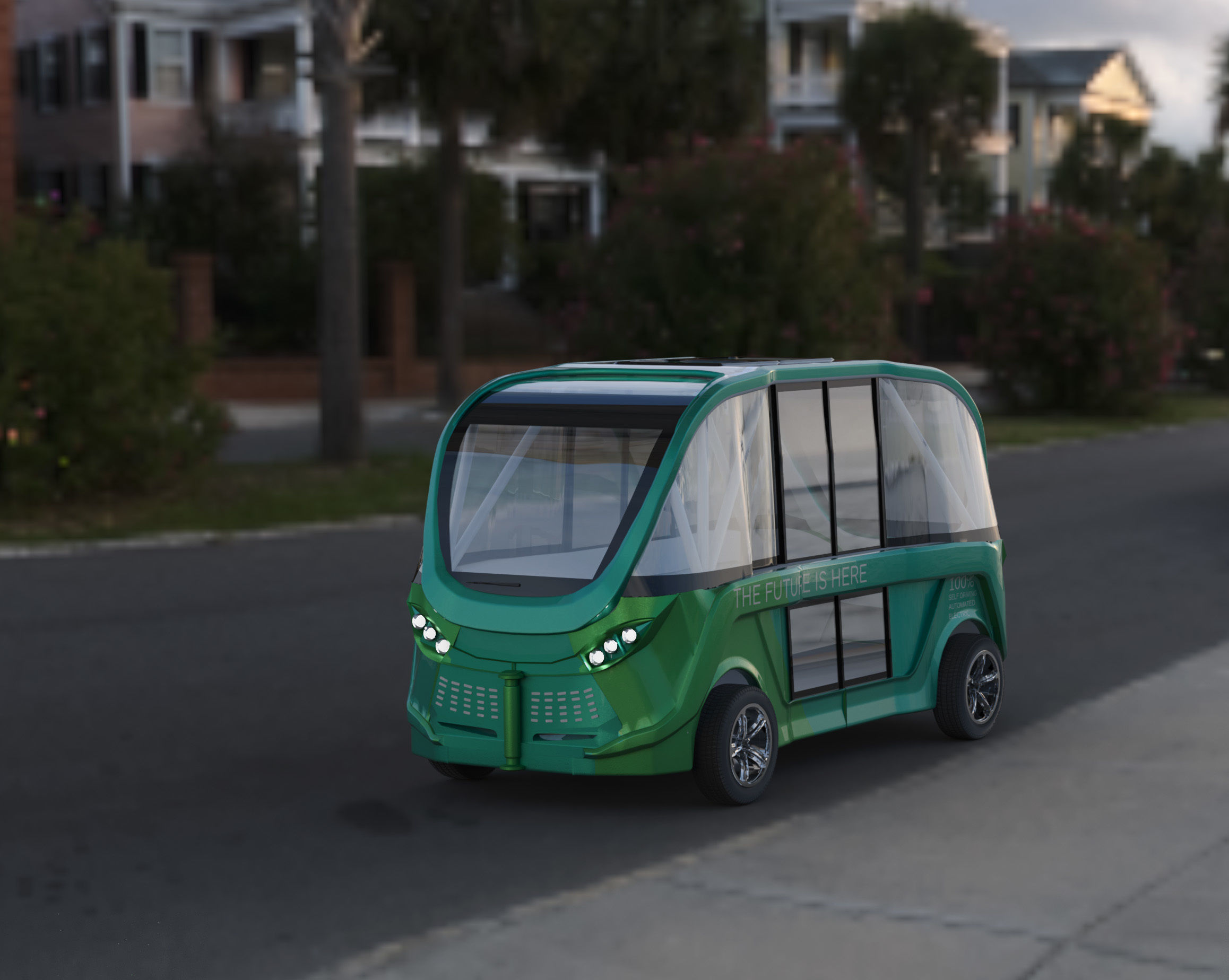 driverless shuttle bus navya