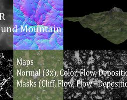 3D model Background Mountain 2