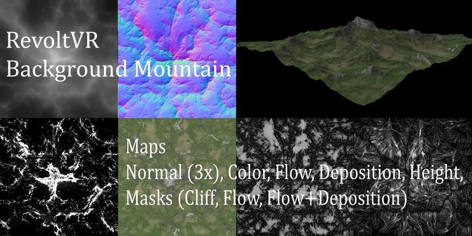 background mountain 2 3d model obj mtl 3ds fbx stl blend mud 1