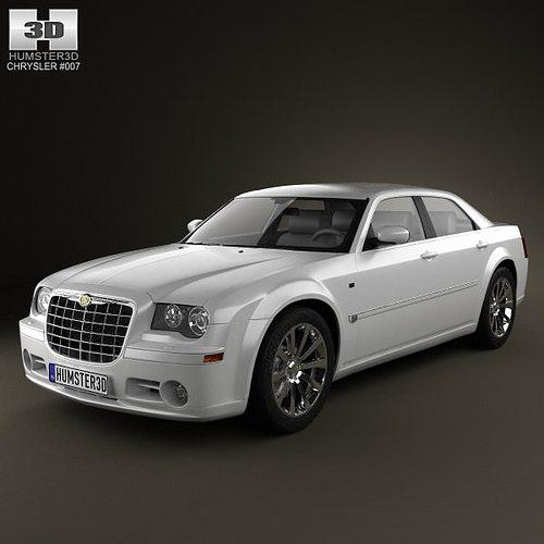 chrysler 300c sedan 2009 3d model max obj mtl 3ds fbx c4d lwo lw lws 1