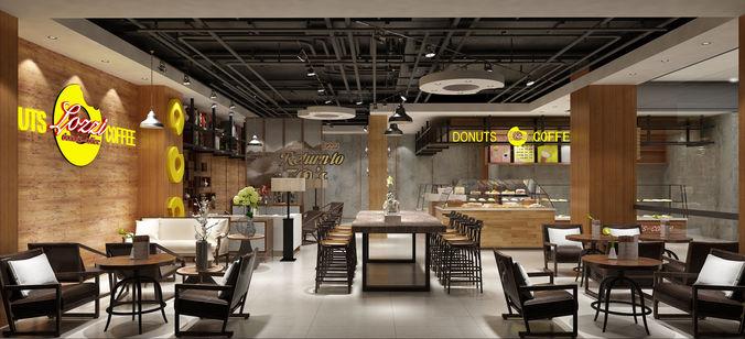Modern restaurant interior 3D food | CGTrader