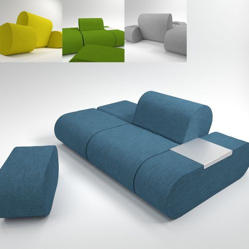 soft line heart sofa blender cycles 3d model obj mtl fbx blend pdf 1