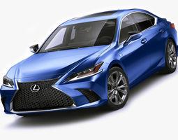 3D model Lexus ES F-Sport 2019
