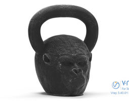 3D asset Gorilla Kettlebell - Low Poly and Sculpt