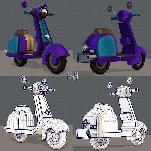 Scooter Cartoon