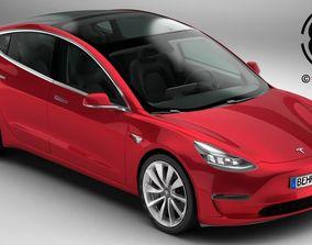 Tesla Model 3 2018 3D