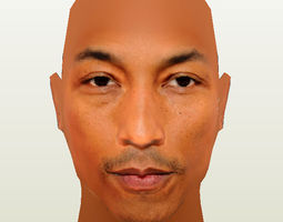 3d asset pharrell williams low-poly
