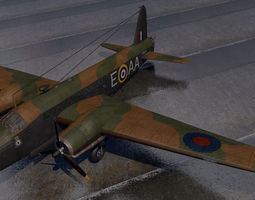 3D model Vickers Wellington Mk-1C - RNZAF