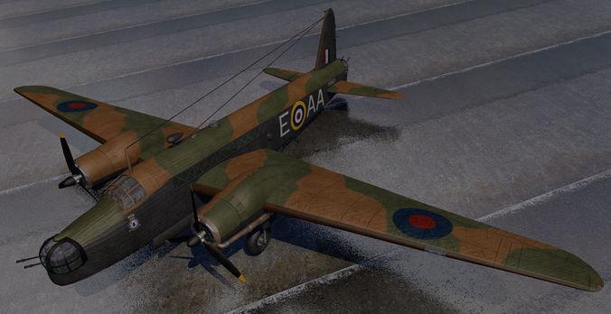 vickers wellington mk-1c - rnzaf 3d model obj mtl 3ds fbx c4d lwo lw lws dae 1