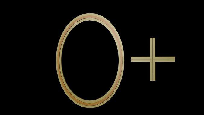 symbol zero 3d model low-poly obj mtl 3ds fbx stl blend x3d 1