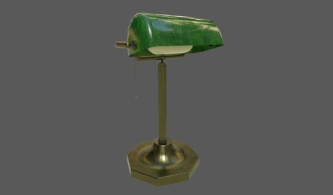 table lamp 3d model fbx dae 1