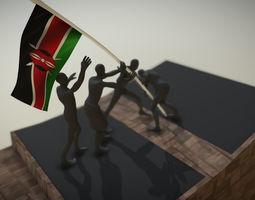 Uhuru Gardens Statue Kenya 3D