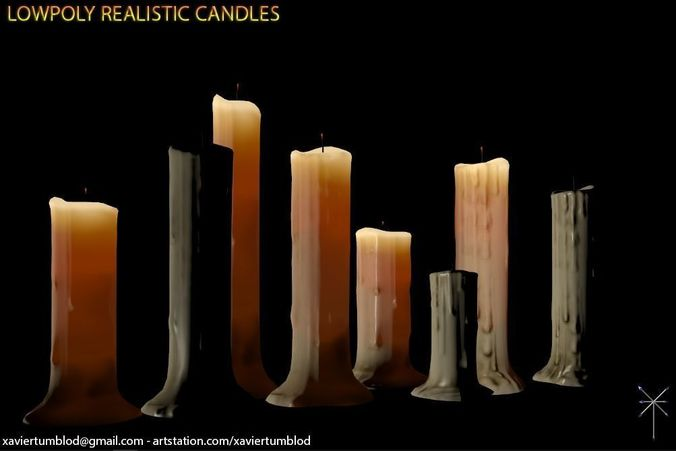 Lowpoly Candle