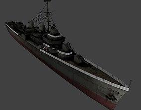 Fletcher Class Destroyer 3D model