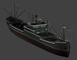 Japanese Merchant Ship 3D asset