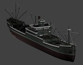 Japanese Merchant Ship 3D asset