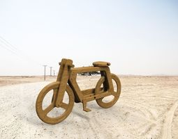 3D model Wooden bicycle