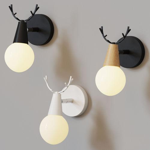 lampatron deer 3d model max obj mtl 1