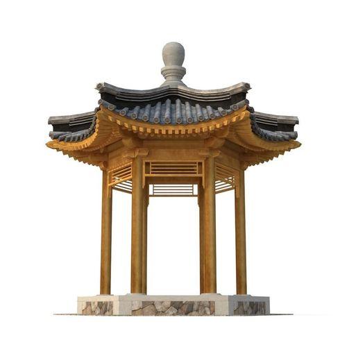 ancient chinese architecture   six corner pavilion 3d model low-poly max obj mtl 3ds fbx 1