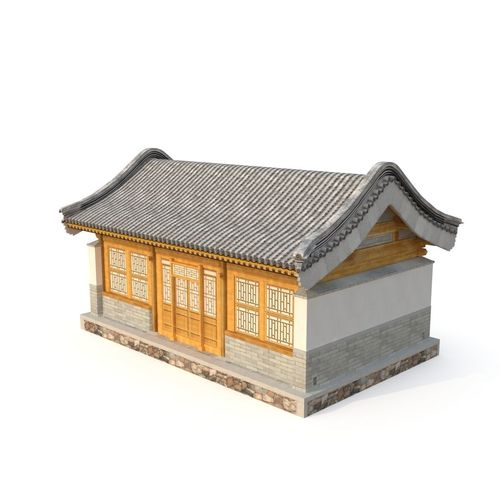 ancient chinese architecture distribution room 02 3d model low-poly max obj mtl 3ds fbx 1