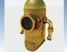 Antique diving helmet 3D model