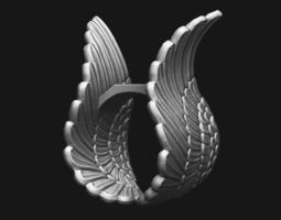 3D print model Ring - Wings