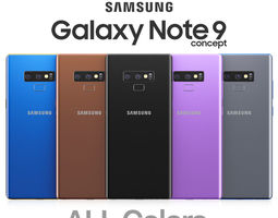 3D model Samsung Galaxy Note 9 All colors