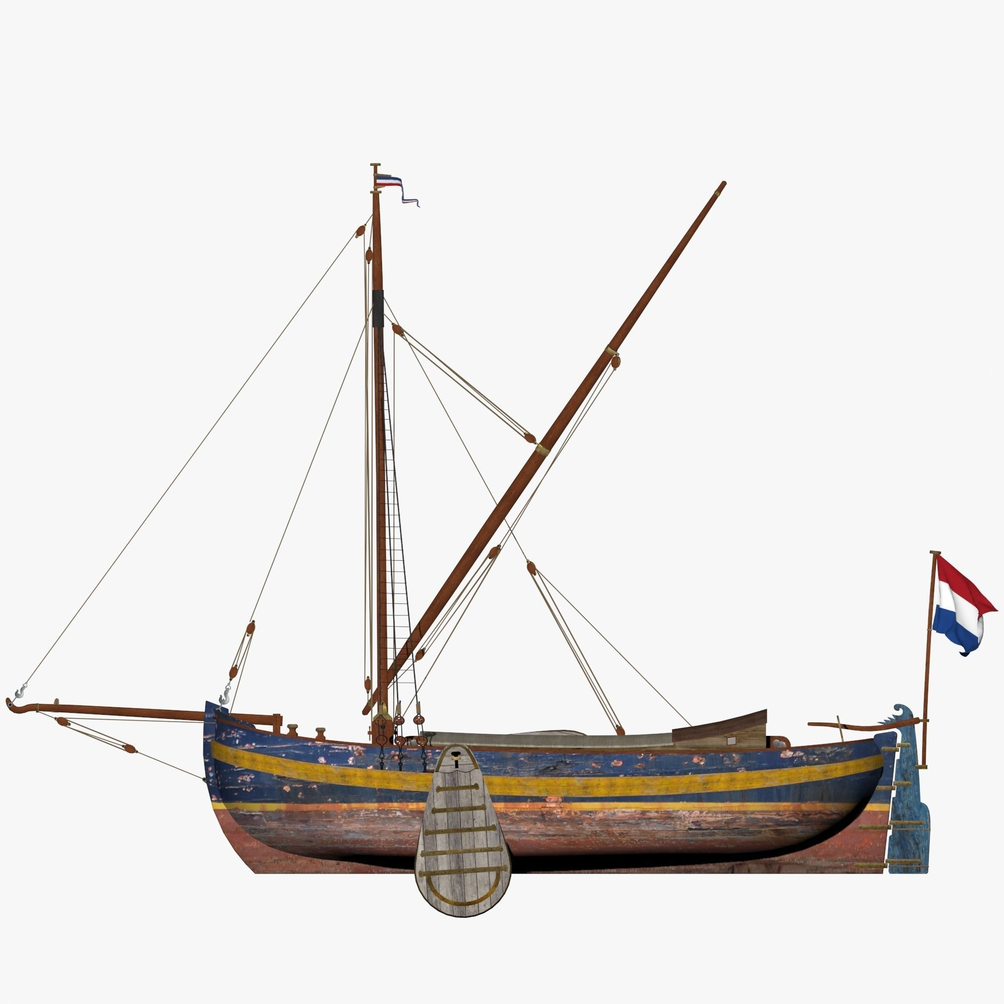 Holland Traditional Fishing Boat - Yate Hollander
