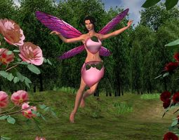 Realistic Fairy Rigged with Animations 3D model
