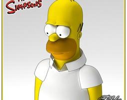 Homer Simpson 3D Model