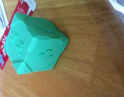 3d printable model fancy cube- with card suits