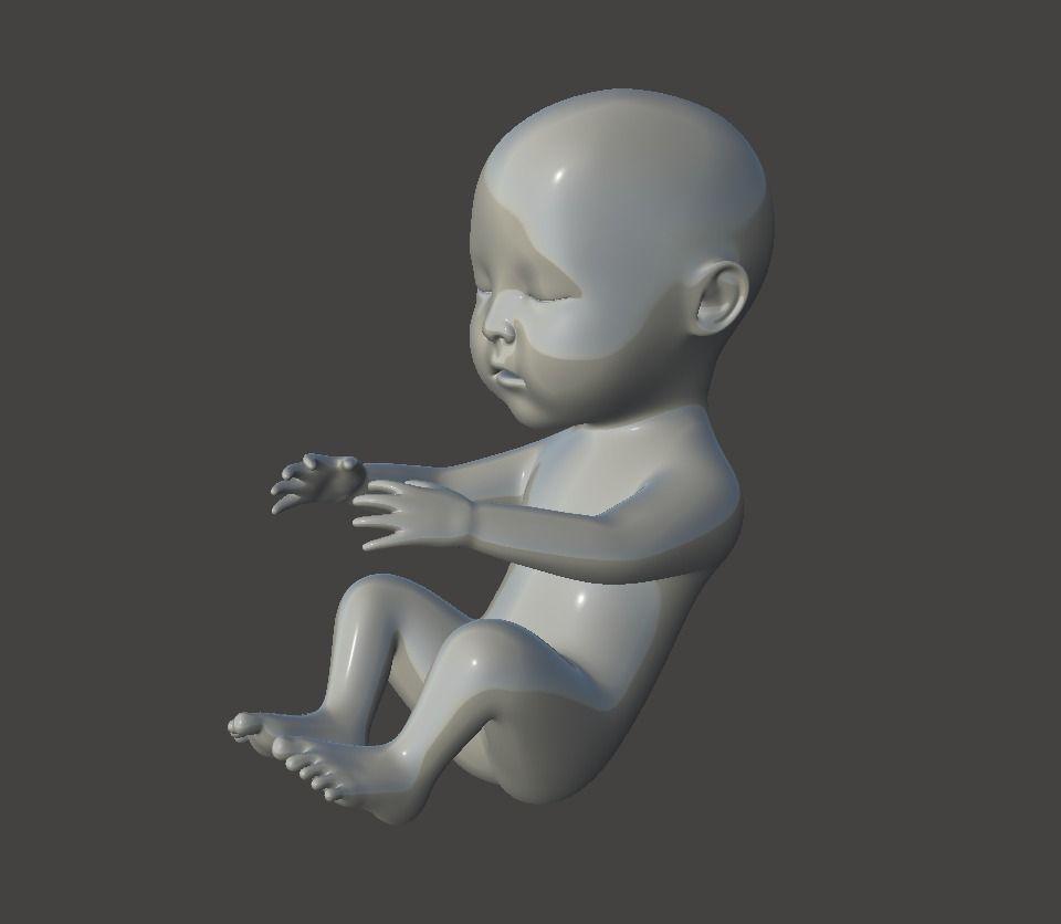Little Baby 3D Printable Model