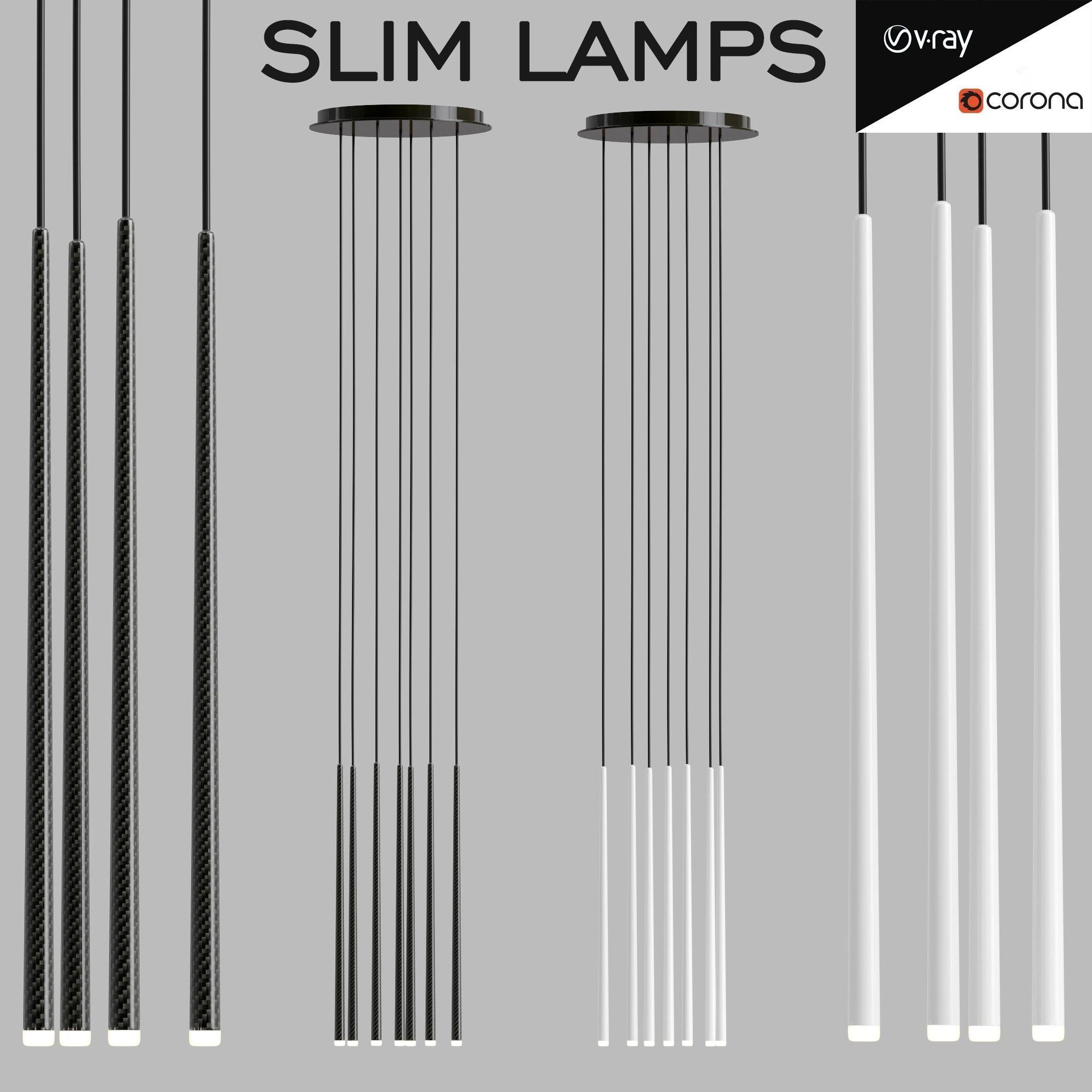 Slim lamps