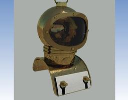 Vintage diving helmet-3 3D asset
