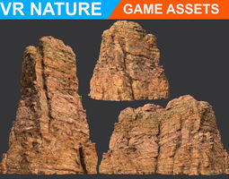 Low poly Realistic Canyon Cliff Modular 180618 3D model