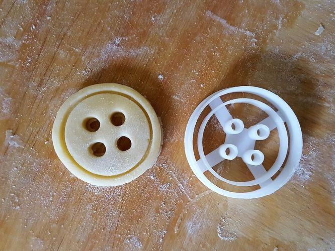 button cookie cutter 3d model obj mtl 3ds stl 3dm skp ige igs iges 1