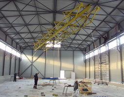 Warehouse Crane with beam and telpher 3D