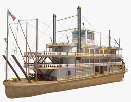 3D model Mississippi Steamboat