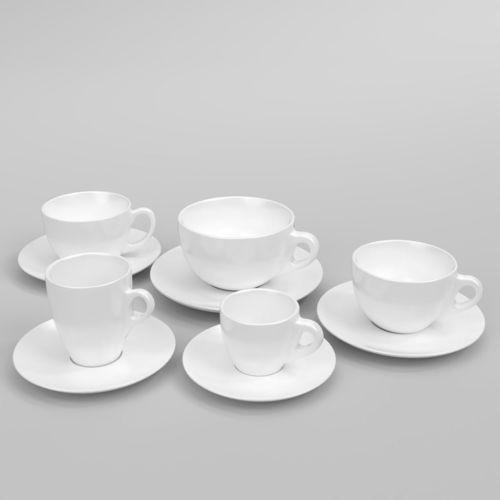 verona coffee cup set blender cycles 3d model obj mtl fbx blend 1