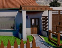 REALISTIC HOUSE WITH ANIMATED SWIMMING 3D model