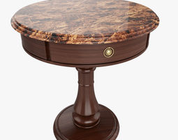 realistic Side Table 3D
