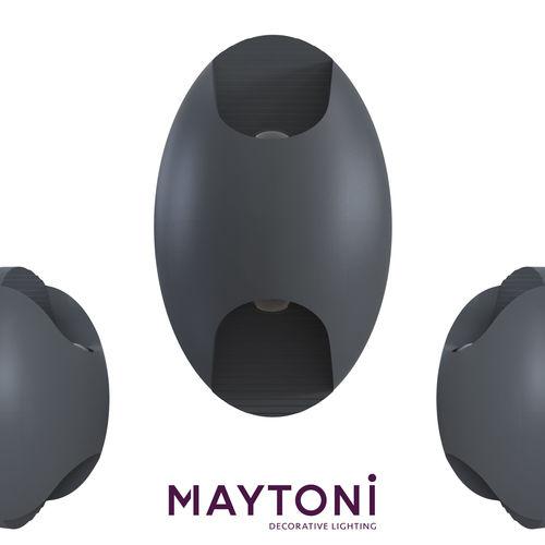 wall mounted coach lantern times square o594wl-l6gr maytoni  3d model max obj mtl 1