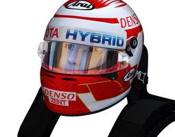 3D asset Nakajima WEC helmet 2018