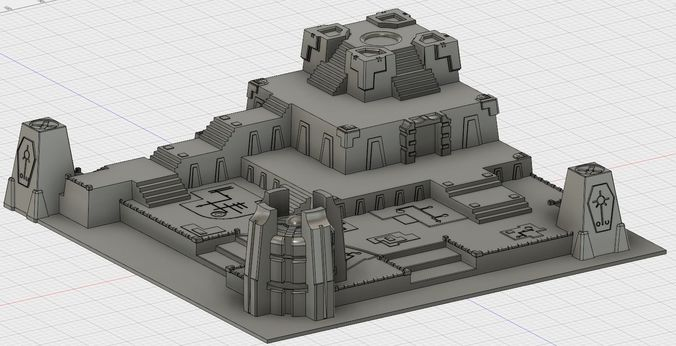 Space Zombie Battle board terrain | 3D Print Model