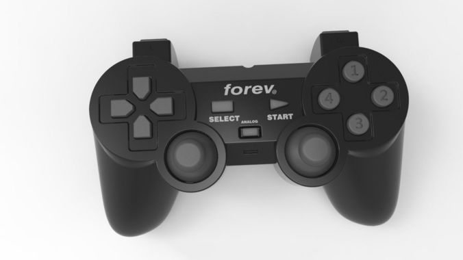 fatansy gamepad 3d model max obj mtl 1