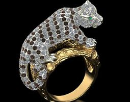 3D print model Ring White tiger cub